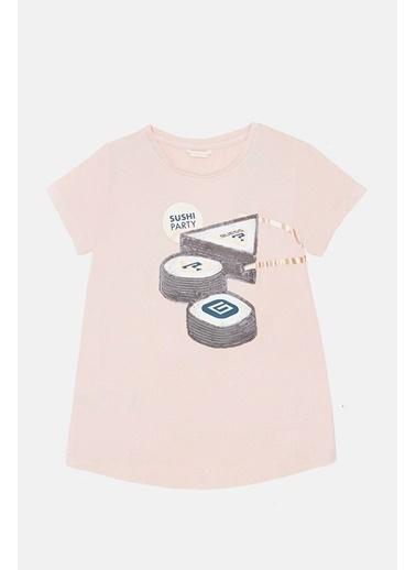 Guess Kız Çocuk Pembe T-Shirt Pembe